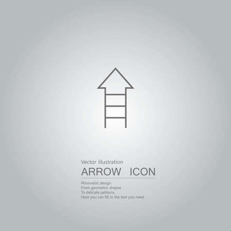 Vector drawn ladder icon. The background is a gray gradient. Ilustração