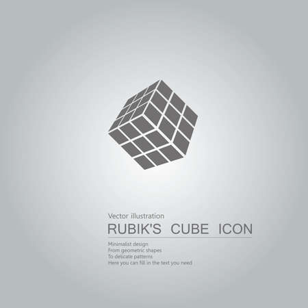 Vector drawn cubes icons. The background is a gray gradient.