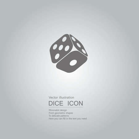 Vector drawn dice icon. The background is a gray gradient.