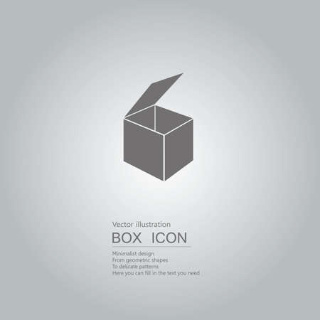 Vector drawn box icon. The background is a gray gradient.