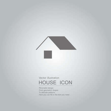Vector drawn house icon. The background is a gray gradient.