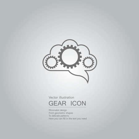 Cloud computing concept design on gray gradient background.