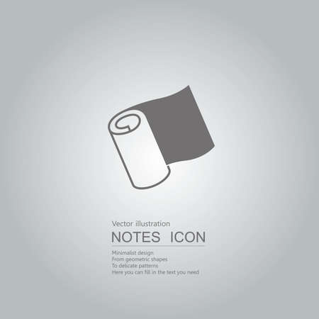 Vector drawn notes. The background is a gray gradient. Illustration