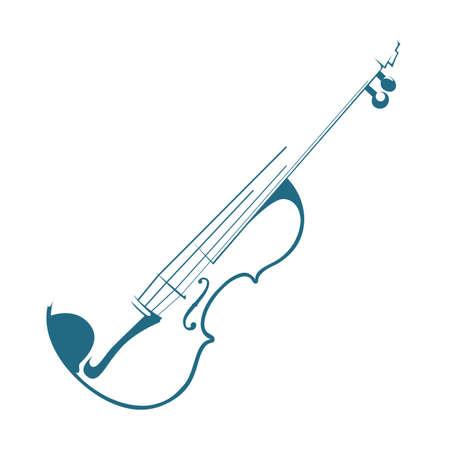 Violin on white background. Illustration