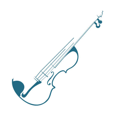 Violin on white background. Ilustrace