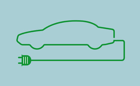 Concept of environmental friendly car Stock Illustratie