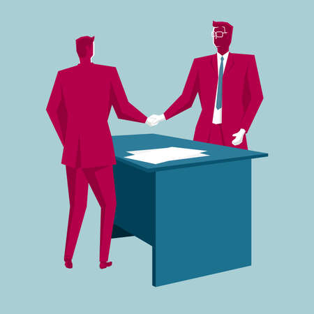 Business cooperation concept design with businessmen shaking hands