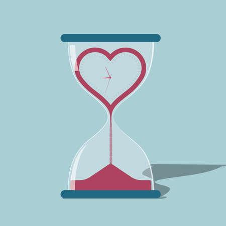 Time concept design. Isolated on blue background. Ilustracje wektorowe