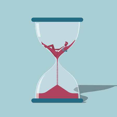 Time concept design. Isolated on blue background.