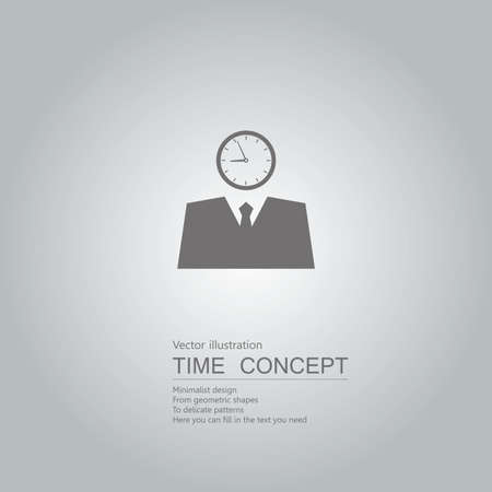 Business clock concept design. Isolated on grey background.  イラスト・ベクター素材