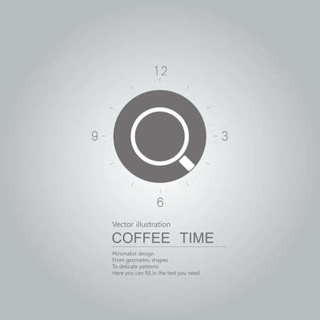 Coffee time is up. Isolated on grey background.