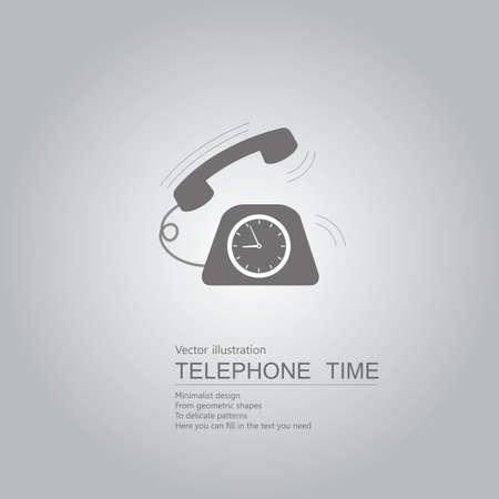 Vintage phone icon. Isolated on grey background.