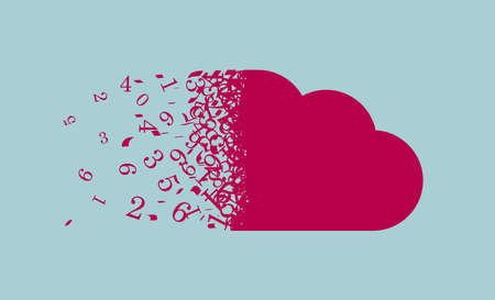 Cloud computing icon design. Isolated on blue background.