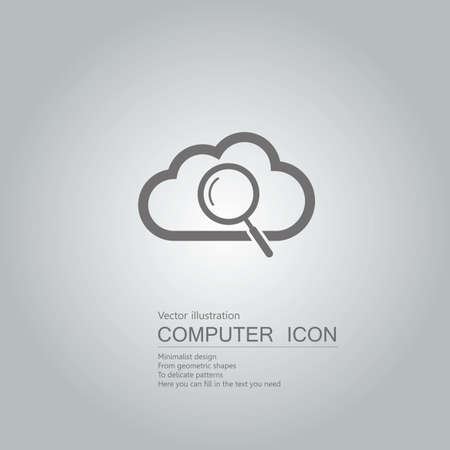 drawn cloud computing icons. Isolated on grey background.