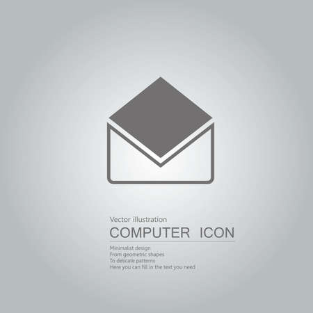 drawn letter icon. Isolated on grey background. Standard-Bild - 130711635