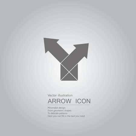 Arrow symbol design. Isolated on grey background. Illustration