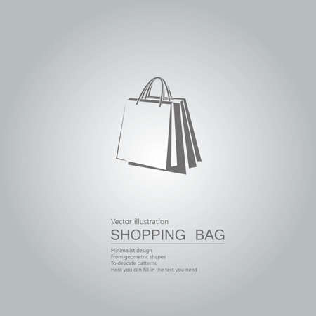 Vector drawn shopping bags. Isolated on grey background Standard-Bild - 130716626