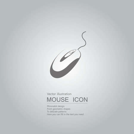 Mouse creative design. Isolated on grey background Standard-Bild - 130716627