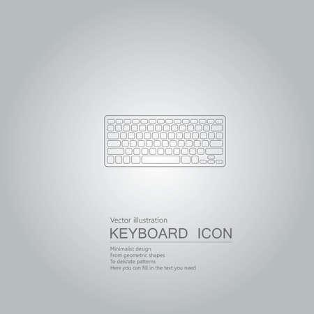 Vector drawn keyboard. Isolated on grey background Standard-Bild - 130716629