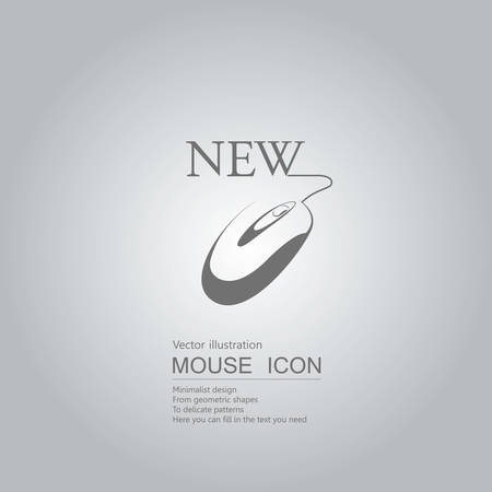 Mouse creative design. Isolated on grey background Standard-Bild - 130716640