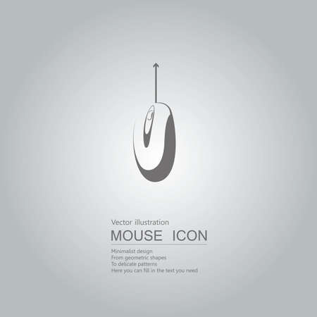 Mouse creative design. Isolated on grey background Standard-Bild - 130716646