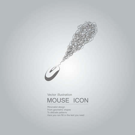 Mouse creative design. Isolated on grey background Çizim