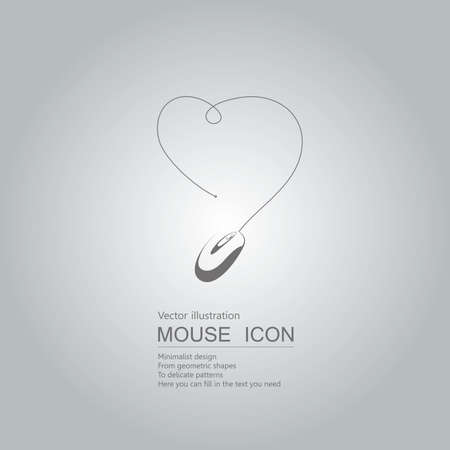Mouse creative design. Isolated on grey background Standard-Bild - 130716652