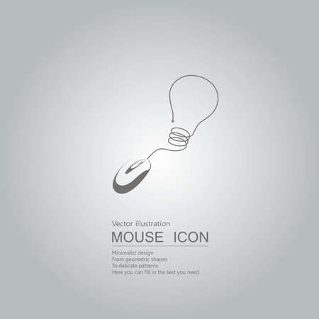 Mouse creative design. Isolated on grey background Иллюстрация