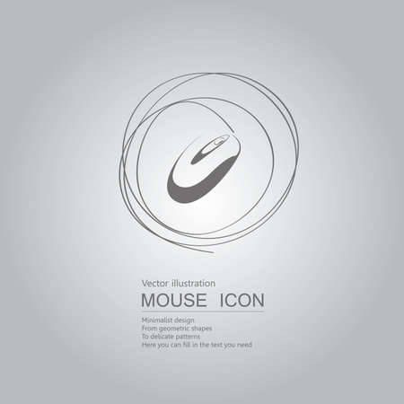 Mouse creative design. Isolated on grey background Standard-Bild - 130722199