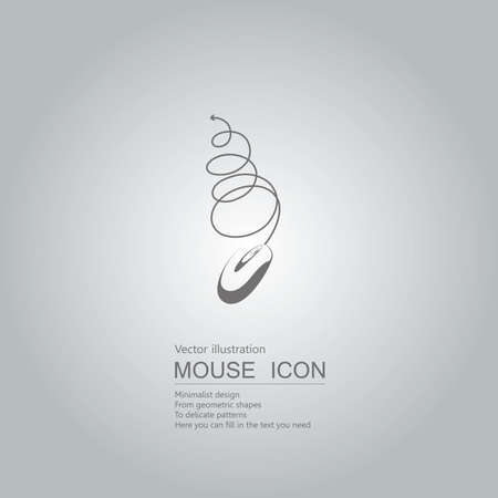 Technology concept with mouse icon design isolated on grey background Standard-Bild - 130778535