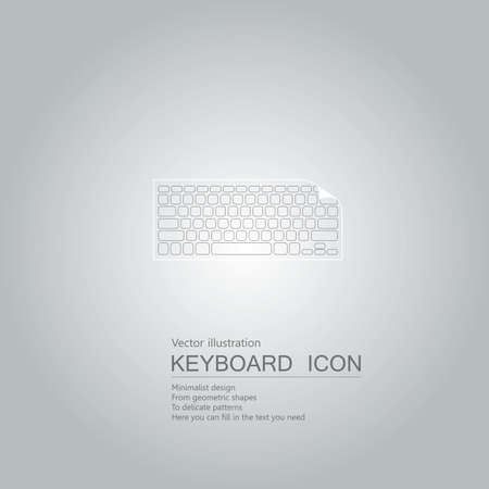 Technology concept with keyboard icon design isolated on grey background Standard-Bild - 130778539