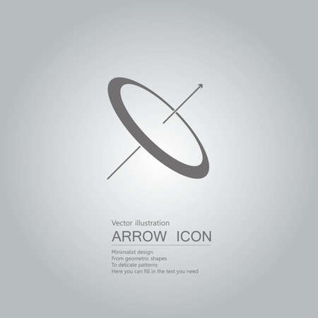 Time concept with arrow icon design isolated on grey background