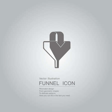 Business concept with arrow in funnel icon design isolated on grey background Standard-Bild - 130779670