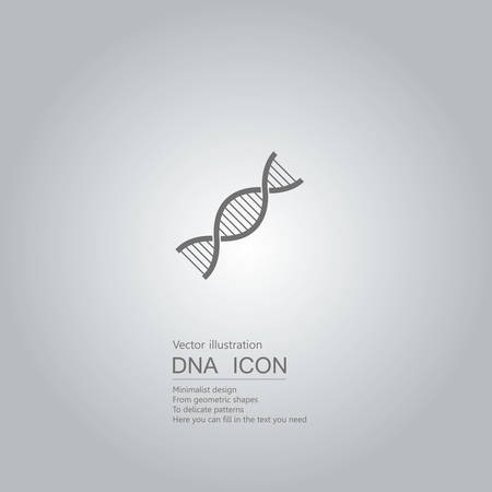 DNA icon design isolated on grey background.