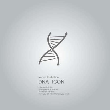 DNA icon design. Isolated on grey background.