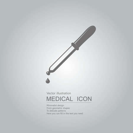 Vector drawn dropper. Isolated on grey background.