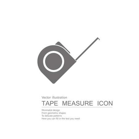 drawn tape measure isolated on white background. Illustration