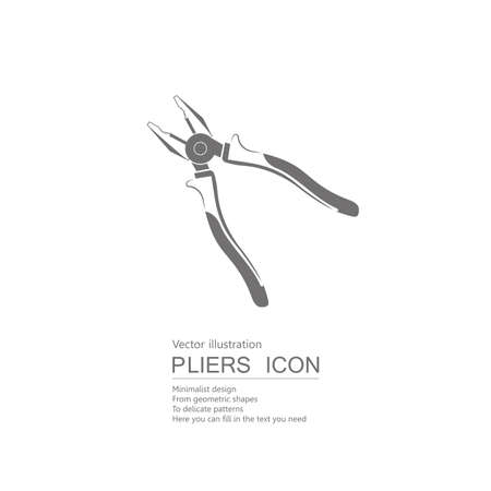 drawn pliers isolated on white background.