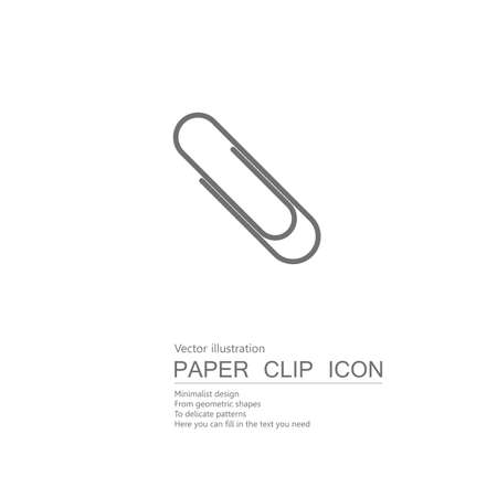 Vector drawn paper clips. Isolated on white background.