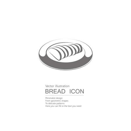Vector drawn bread. Isolated on white background. Illustration