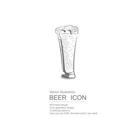 Vector drawn beer mug. Isolated on white background. 일러스트