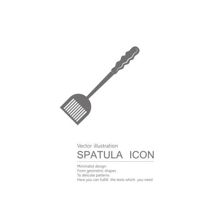 Vector drawn spatula. Isolated on white background. 일러스트
