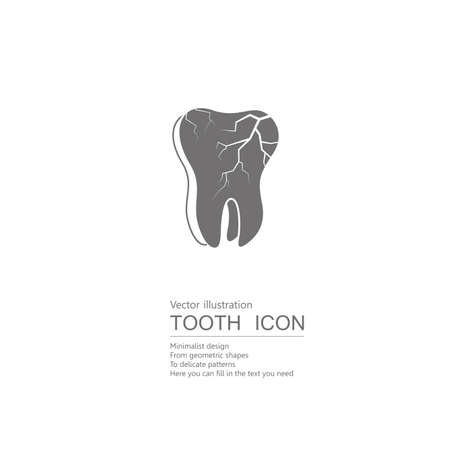 Vector drawn teeth. Isolated on white background.