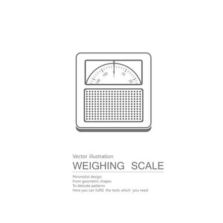 Vector drawn scales. Isolated on white background.