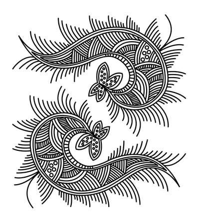 Abstract fish pattern design. Illustration