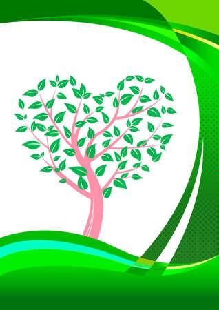 Heart shaped tree. Abstract background design. Standard-Bild - 131276752