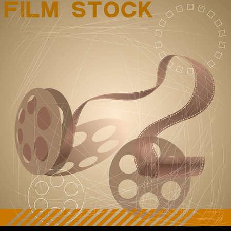 Vector drawn movie copy. Retro style design. Illustration