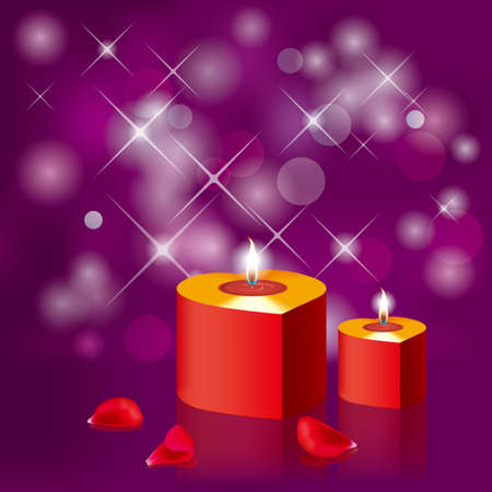 Burning candles. Holiday decorations, festival celebrations. Standard-Bild - 131417592