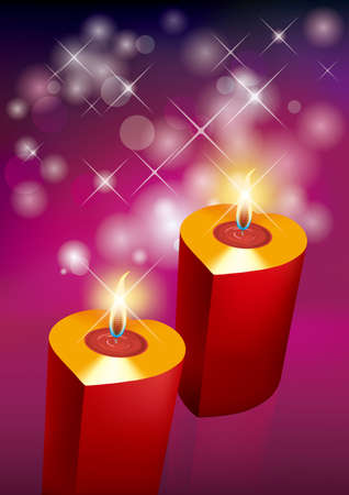 Burning candles. Holiday decorations, festival celebrations. Standard-Bild - 131417594