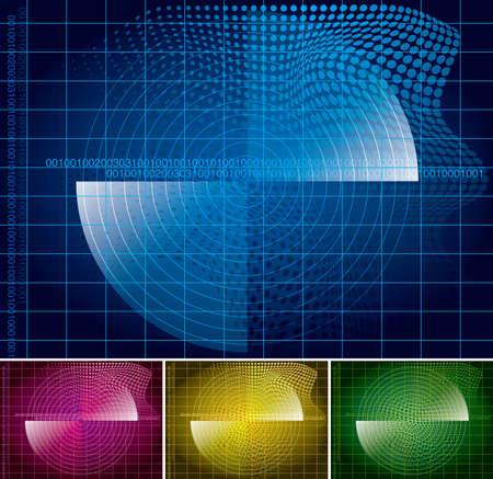 Search the scanning system. Color radar design.